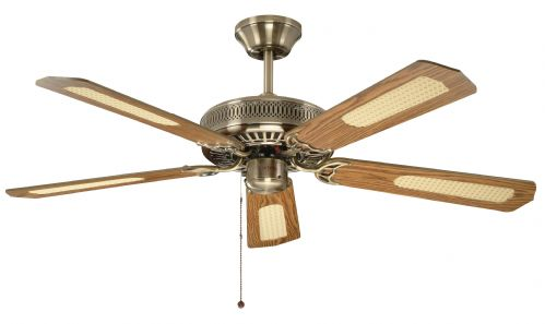 "Fantasia Classic 52"" Antique Brass Ceiling Fan 110224"